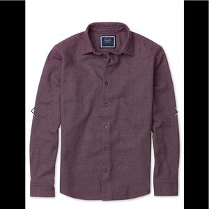 Charles Tyrwhitt Slim Fit Berry Grid Flannel NWT